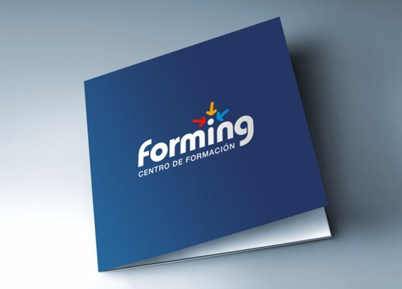 Diseño de logotipo para Forming, un centro de formación y recursos humanos. -1