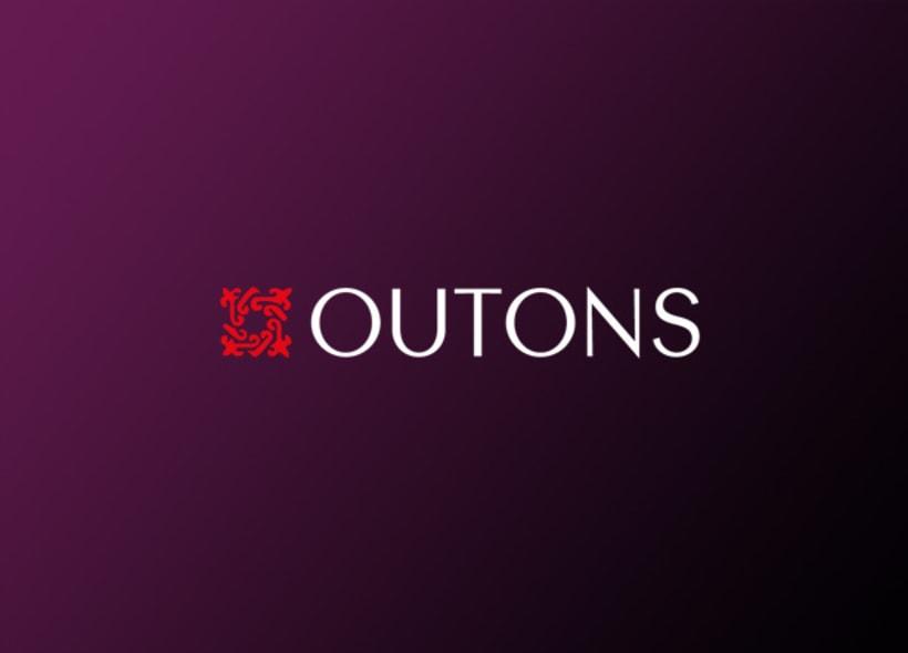 Logotipo para Outons, una empresa gallega especializada en todo tipo de mobiliario hecho en forja: cabeceros de cama, comedores, mueble auxiliar, espejos, iluminación interior y exterior, etc... -1