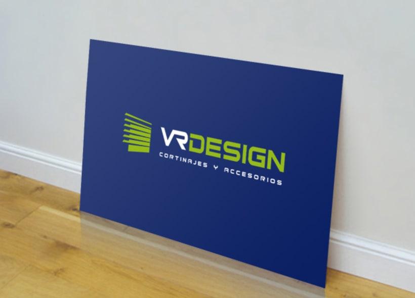 Diseño de logotipo para VR Design, una empresa que fabrica y distribuye todo tipo de cortinas, estores enrollables, paneles japoneses, persianas, venecianas, etc... -1