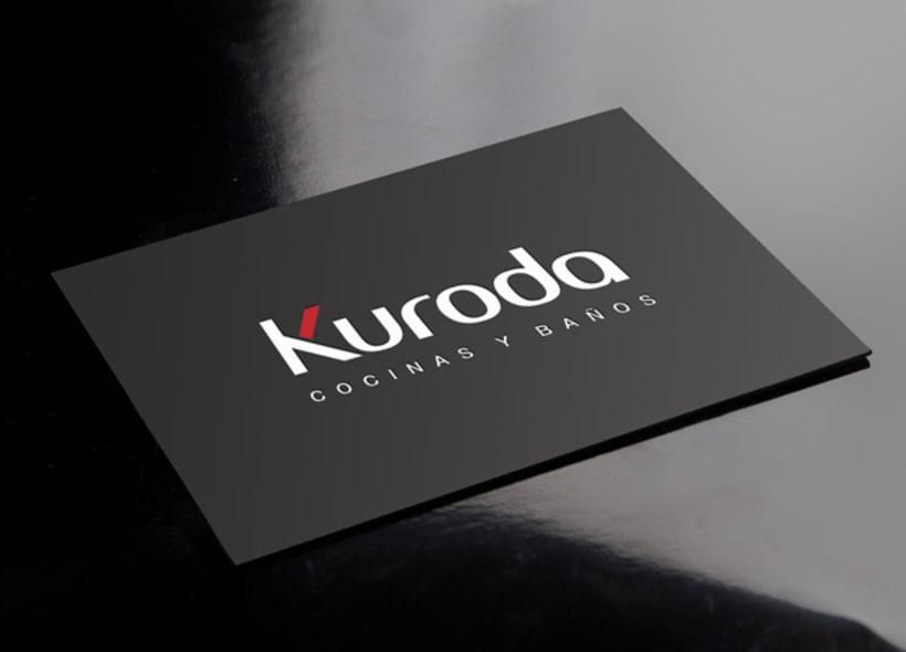 Diseño de logotipo para Kuroda, una empresa dedicada a la fabricación y venta de muebles de cocina y baño con un diseño moderno e innovador. -1