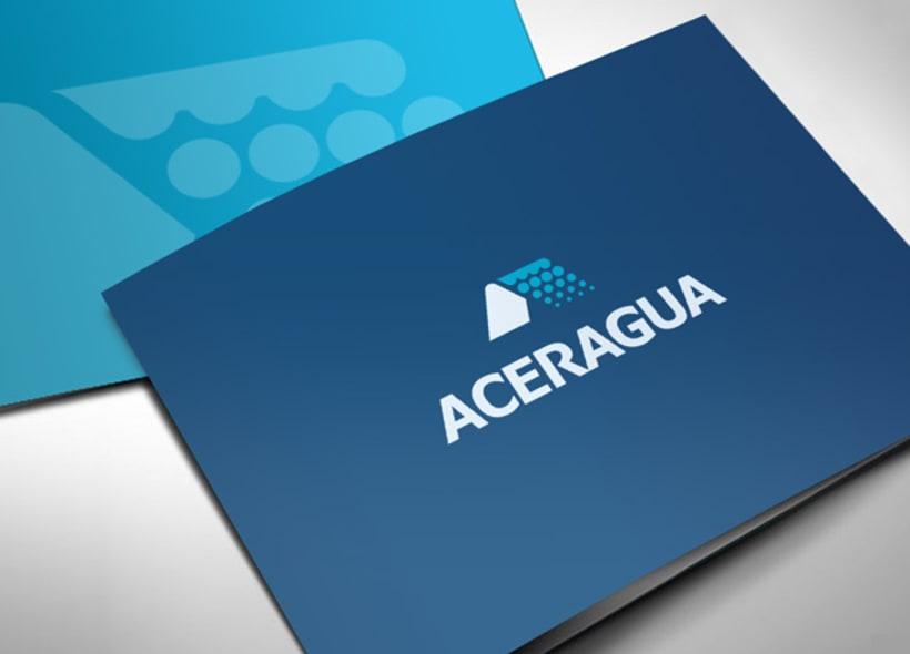Diseño de logotipo para Aceragua, una empresa de fabricación y compraventa de equipos de depuración de aguas, calderería gruesa y todo tipo de productos metálicos estructurales. -1