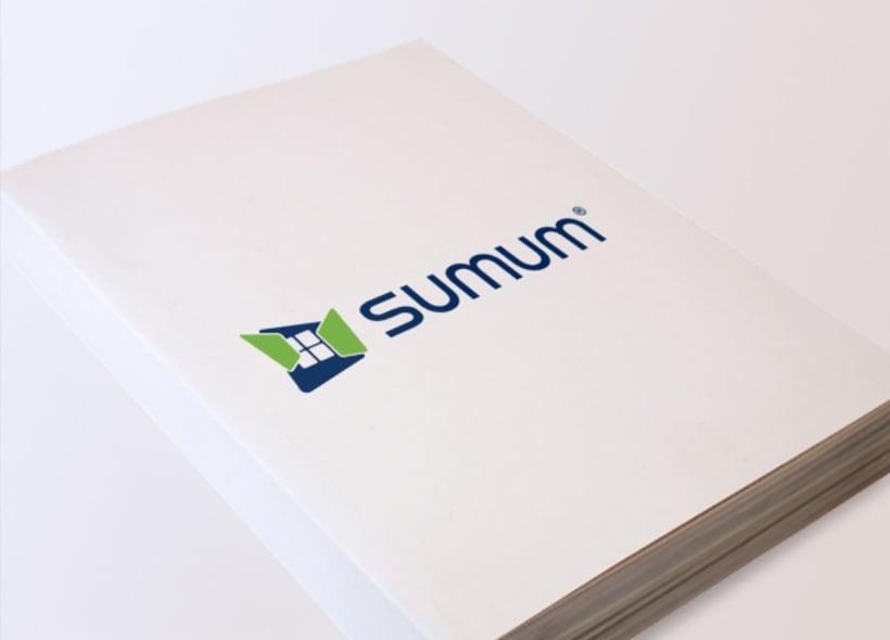 Rediseño de logotipo para Sumum, una empresa que fabrica y distribuye ventanas y puertas realizadas en PVC. -1