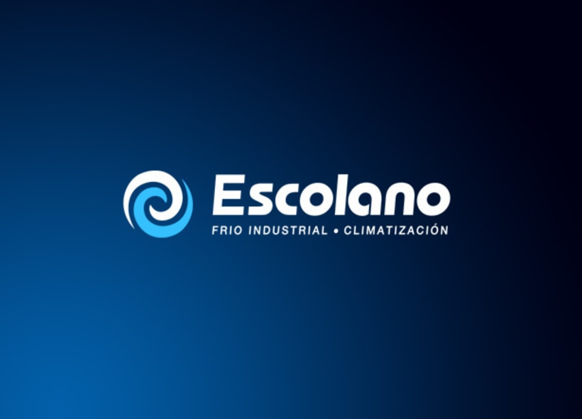 Diseño de logotipo para Escolano, empresa especializada en sistemas de refrigeración, frío industrial, comercial y acondicionamiento de aire. -1