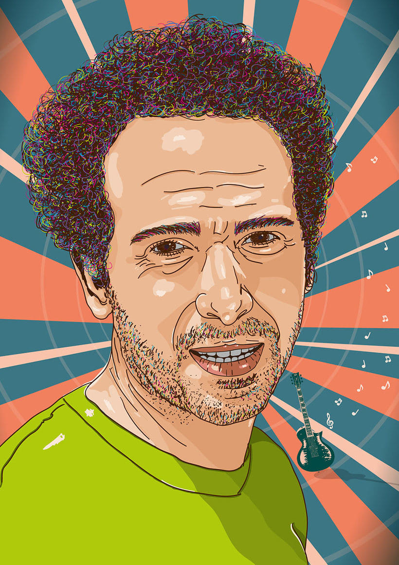 Retratos multicolor (illustrator) 3
