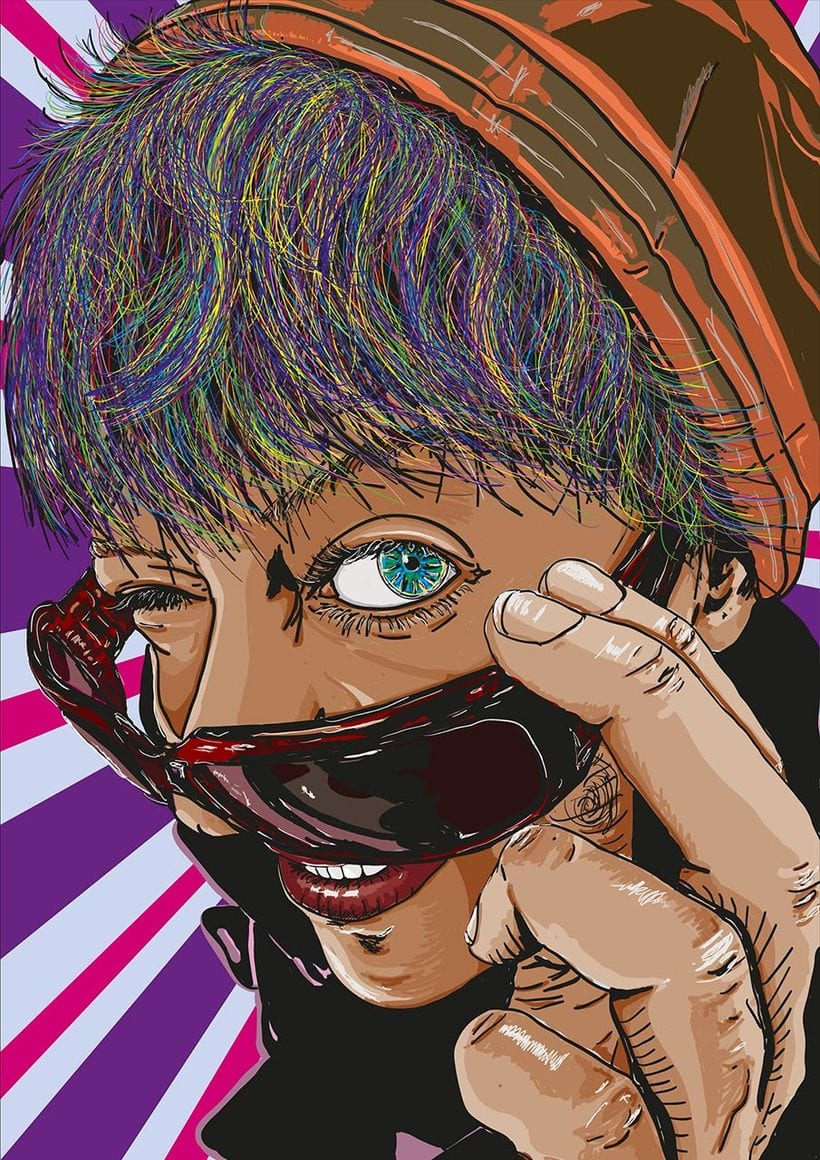Retratos multicolor (illustrator) 0