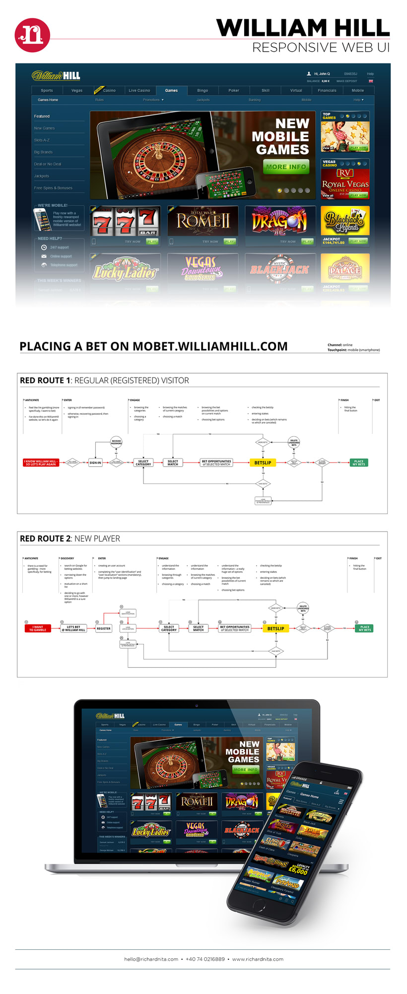 William Hill - red routes, analysis and improvement proposals -1