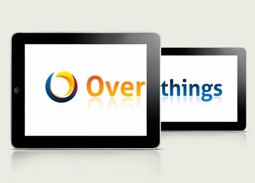 Diseño de logotipo para Overthings, una empresa de software y hardware especializada en el desarrollo de videojuegos. -1