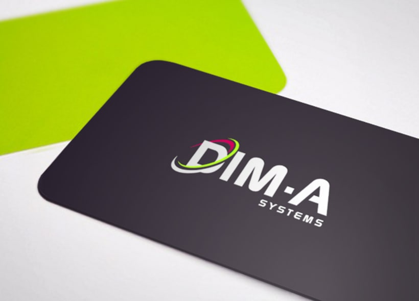 Logotipo para Dim-a Systems, una empresa que presta servicios de desarrollo y mantenimiento de software personalizado para cada empresa, mejorando su estructuración, gestión, almacenamiento de productos, etc... -1