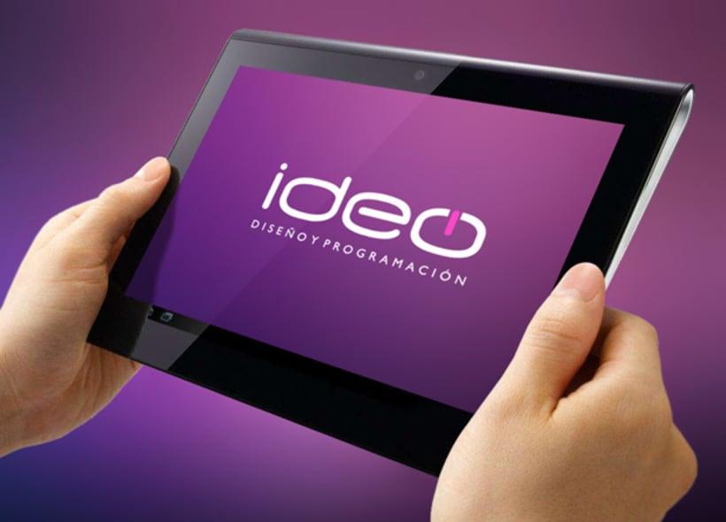 Diseño de logotipo para Ideo, una empresa especializada en el diseño y la programación de páginas web, mantenimiento de contenidos, comercio electrónico, administración de servidores, posicionamiento en buscadores, campañas de e-marketing, etc... -1