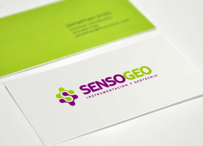 Diseño de logotipo para Sensogeo, una empresa de ingeniería que presta servicios de instrumentación y geotecnia. -1