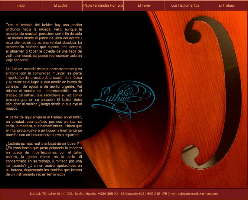Web Pablo Fernández Romero Luthier 2