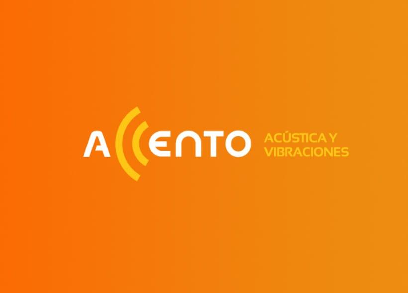 """Diseño de logotipo para Accento, una impresa de ingeniería que ofrece soluciones integrales en instrumentación de medidas acústicas y vibraciones.  El logo aprovecha las dos """"C"""" para crear una imagen que evoca con claridad unas ondas de sonido. -1"""