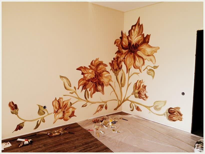 "Pared pintada ""flores"" 11"