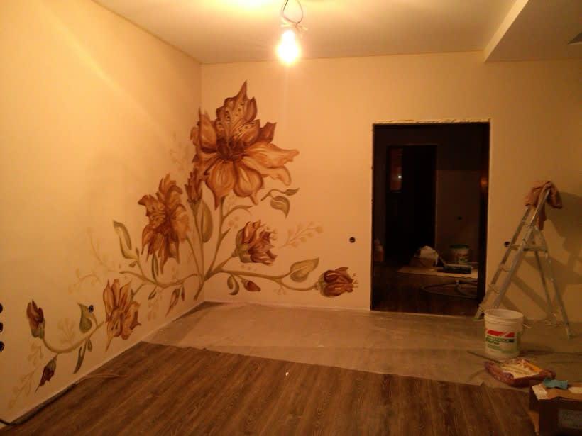 "Pared pintada ""flores"" 13"