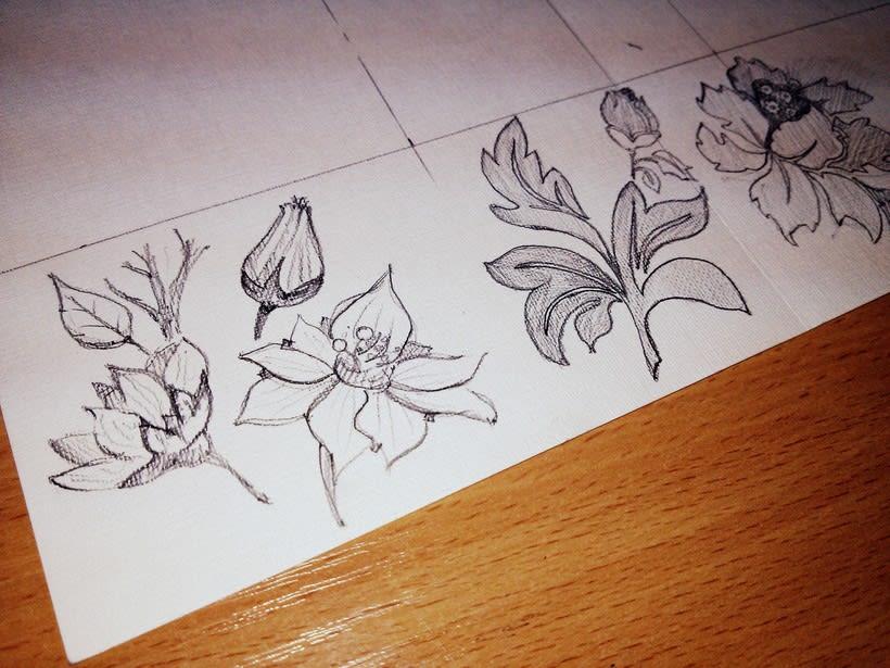 "Pared pintada ""flores"" 2"
