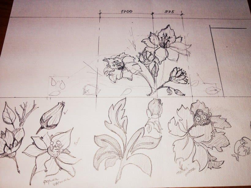 "Pared pintada ""flores"" 3"