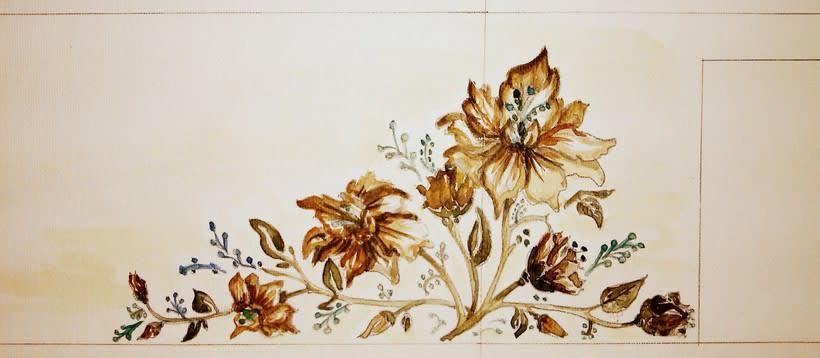 "Pared pintada ""flores"" 4"