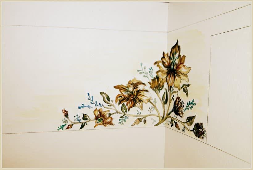 "Pared pintada ""flores"" 5"