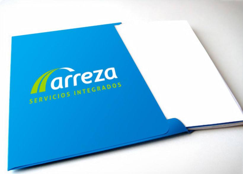 Logotipo para Arreza, una empresa malagueña que realiza servicios integrados de limpieza en todo tipo de superficies, pero que además está muy especializado en el sector ferroviario. -1