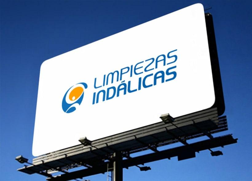 Rediseño de logotipo para Limpiezas Indálicas, una empresa almeriense especializada en el mantenimiento integral de pequeñas y grandes superficies -1