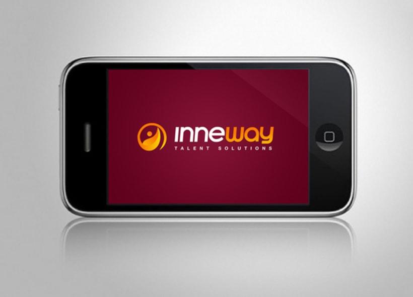 Diseño de logotipo para Inneway, una consultoría ubicada en Barcelona que ofrece soluciones para el desarrollo de particulares, profesionales y empresas. -1