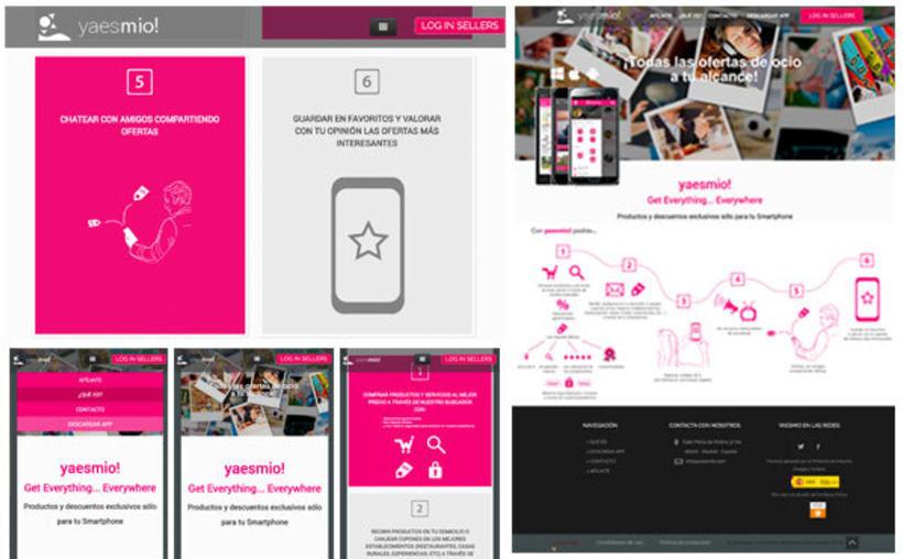 Diseñadora aplicación móvil y diseñadora y maquetadora de aplicación web yaesmio! 1