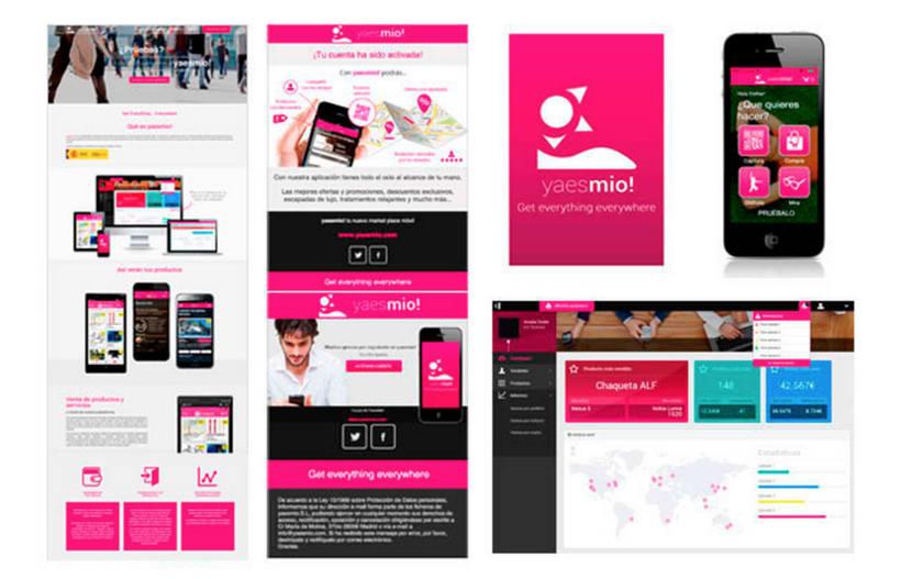 Diseñadora aplicación móvil y diseñadora y maquetadora de aplicación web yaesmio! 2