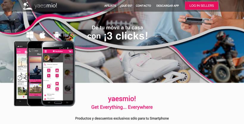 Diseñadora aplicación móvil y diseñadora y maquetadora de aplicación web yaesmio! 0