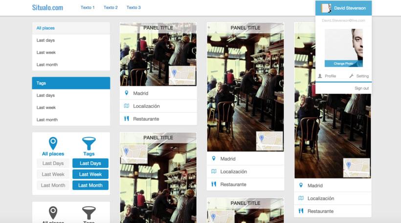 MAQUETACIÓN HTML BOOTSTRAP PARA SITUALO(Diseño de Landing page, aplicación móvil y aplicación web). 2