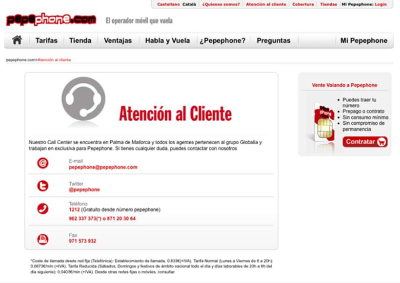 Website Pepephone  2