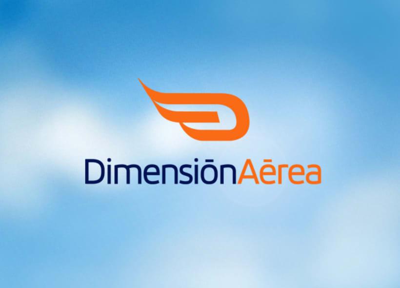 Diseño de logo para Dimensión Aérea, una empresa granadina que acerca al cliente al mundo de la aviación a través de cursos de pilotaje, vuelo acrobático, excursiones, fotografía aérea, etc... -1