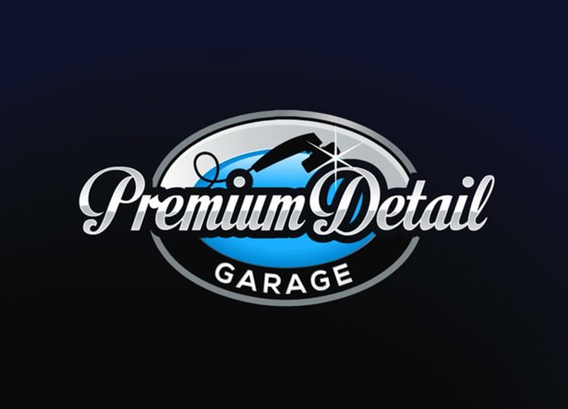 """Diseño de logotipo para Premium Detail Garage, una empresa ubicada en Madrid y dedicada al """"Detailing"""" o detallado de coches de alta gama. -1"""