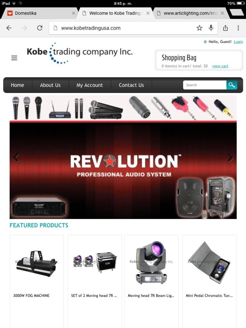 Imagen corporativa de kobetradingusa  y sus productos -1