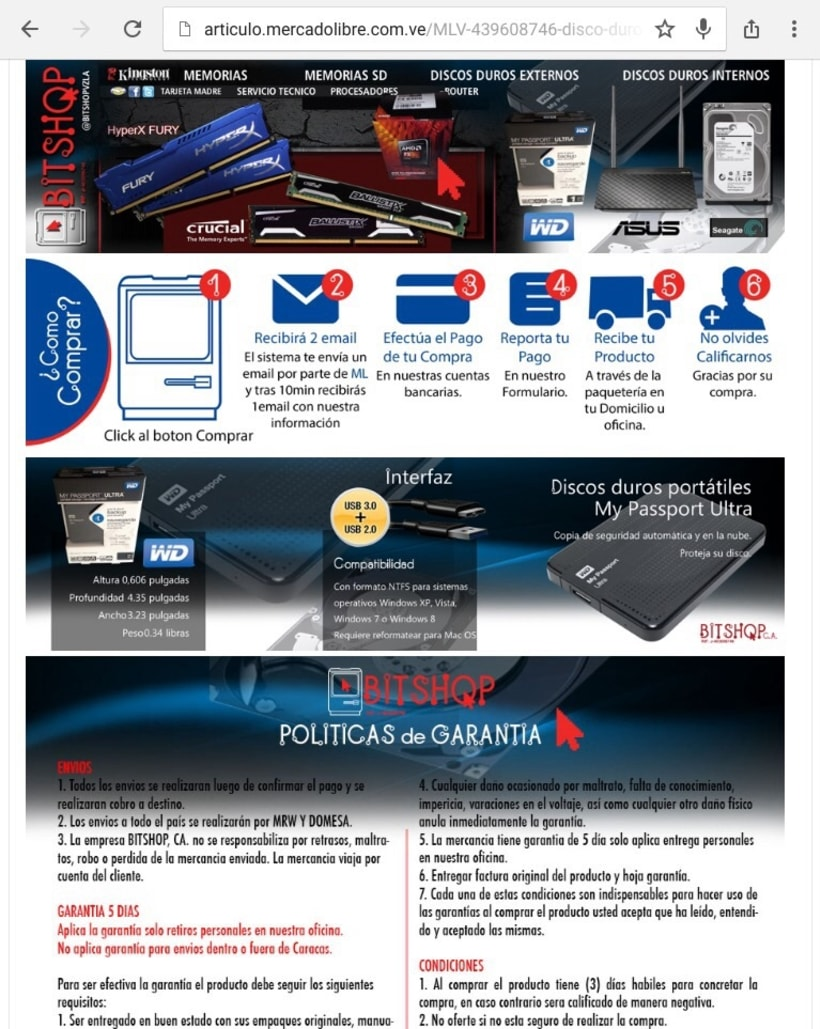 Imagen corporativa empresa Bitshop c.a y diseños para publicar los productos -1