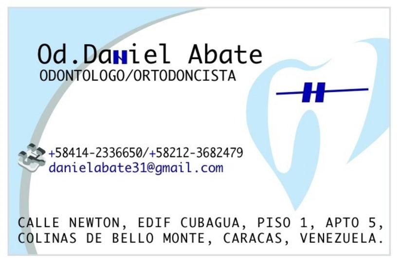 Diseño de papelería  Dr. Daniel abate -1