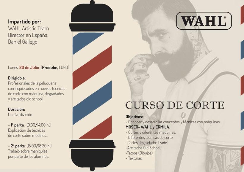 Flyer Curso Corte. Marca WAHL -1