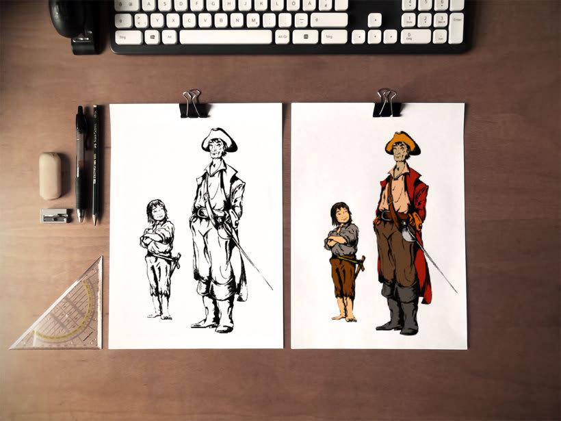 "Ilustraciones libro ""Vaya Pirata"" 2"