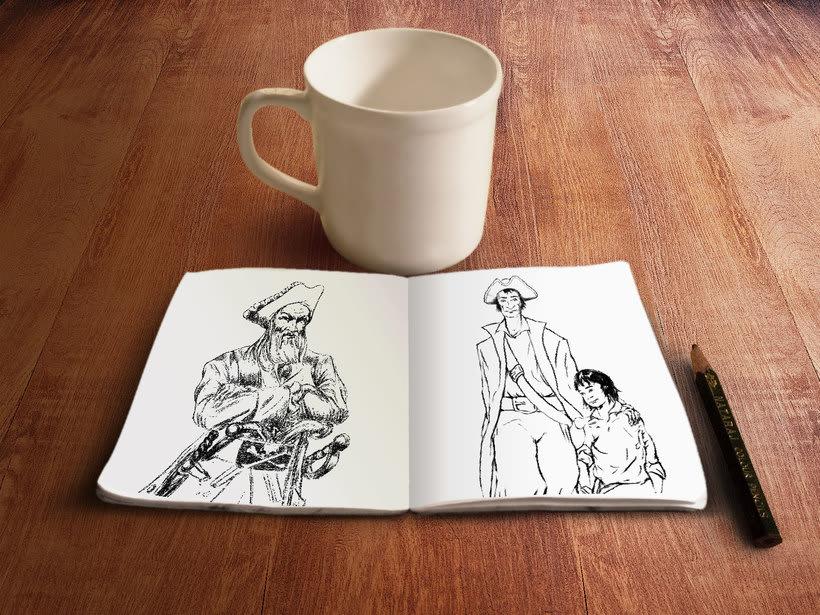 "Ilustraciones libro ""Vaya Pirata"" 0"