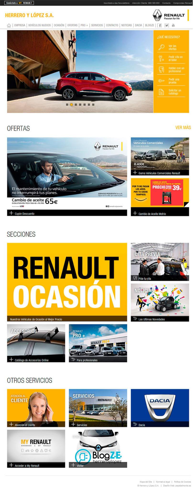 Actualización Web Herrero y López S.A. - Renault Murcia 0