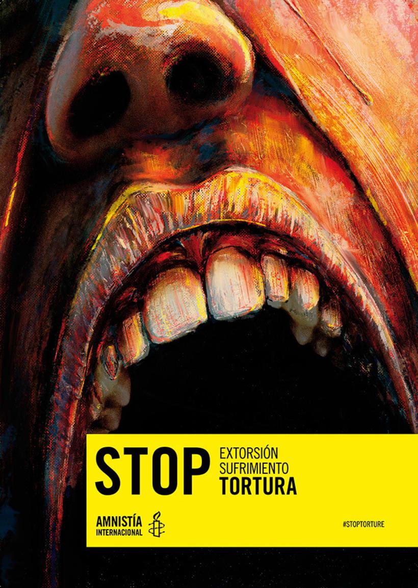 Concurso cartelería Amnistía Internacional #stoptortura 2