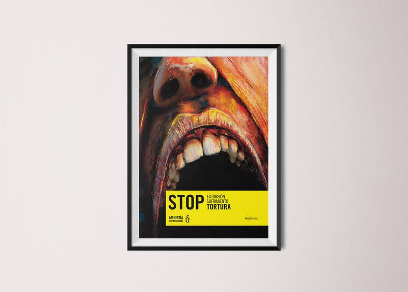 Concurso cartelería Amnistía Internacional #stoptortura 1