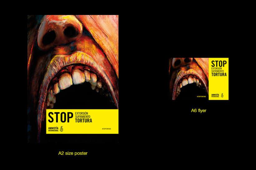 Concurso cartelería Amnistía Internacional #stoptortura 5