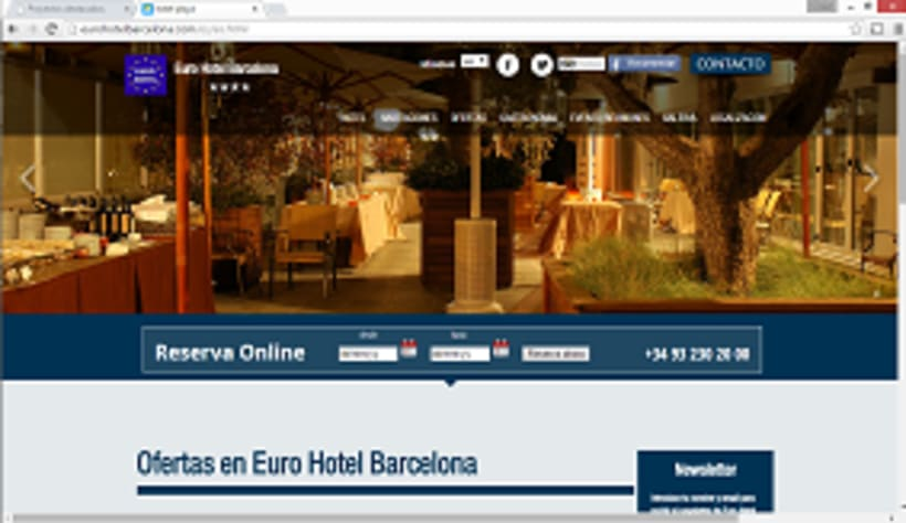 Pagina web www.eurohotelbarcelona.com 0