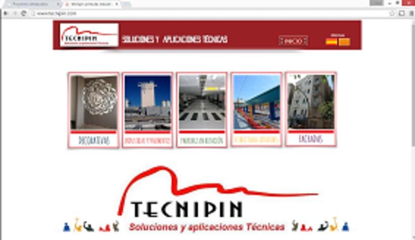 Pagina web  Tecnipin S.L. 0