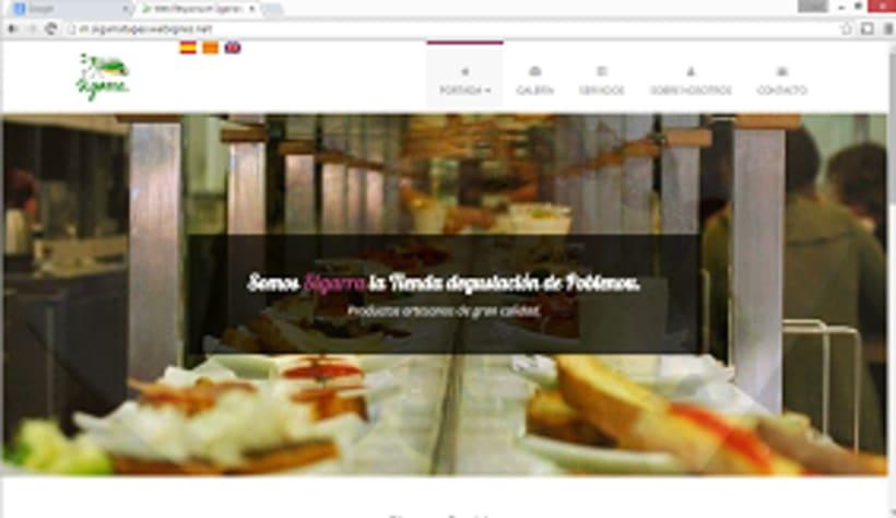 Pagina web muestra sigarra tienda degustacion 0