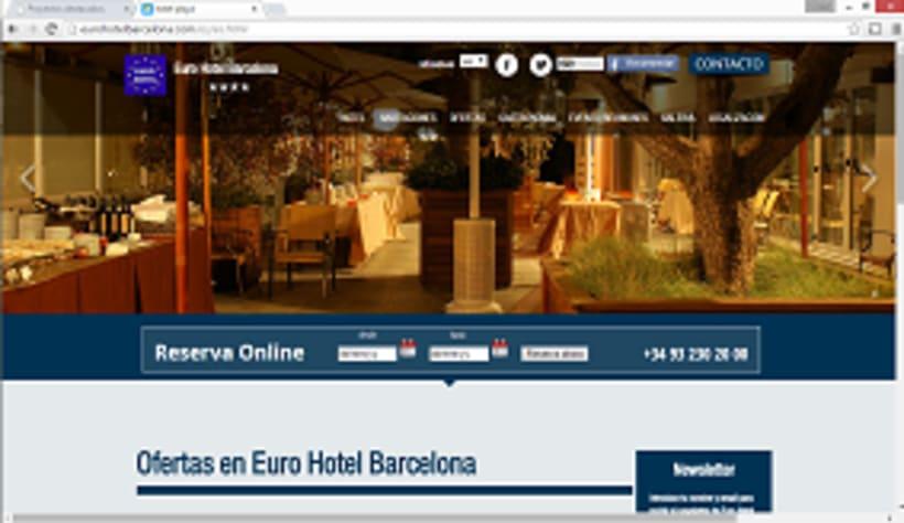 Pagina web Euro hotel Gran via Bcn 0