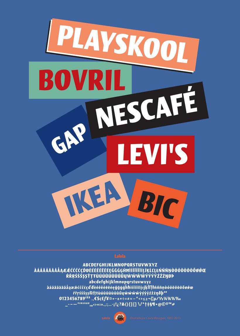 Lalola, una tipografía display con fuerte carácter 1