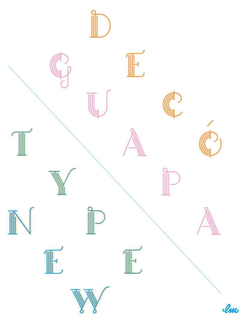 Guapa, una tipografía sans serif decorada 2