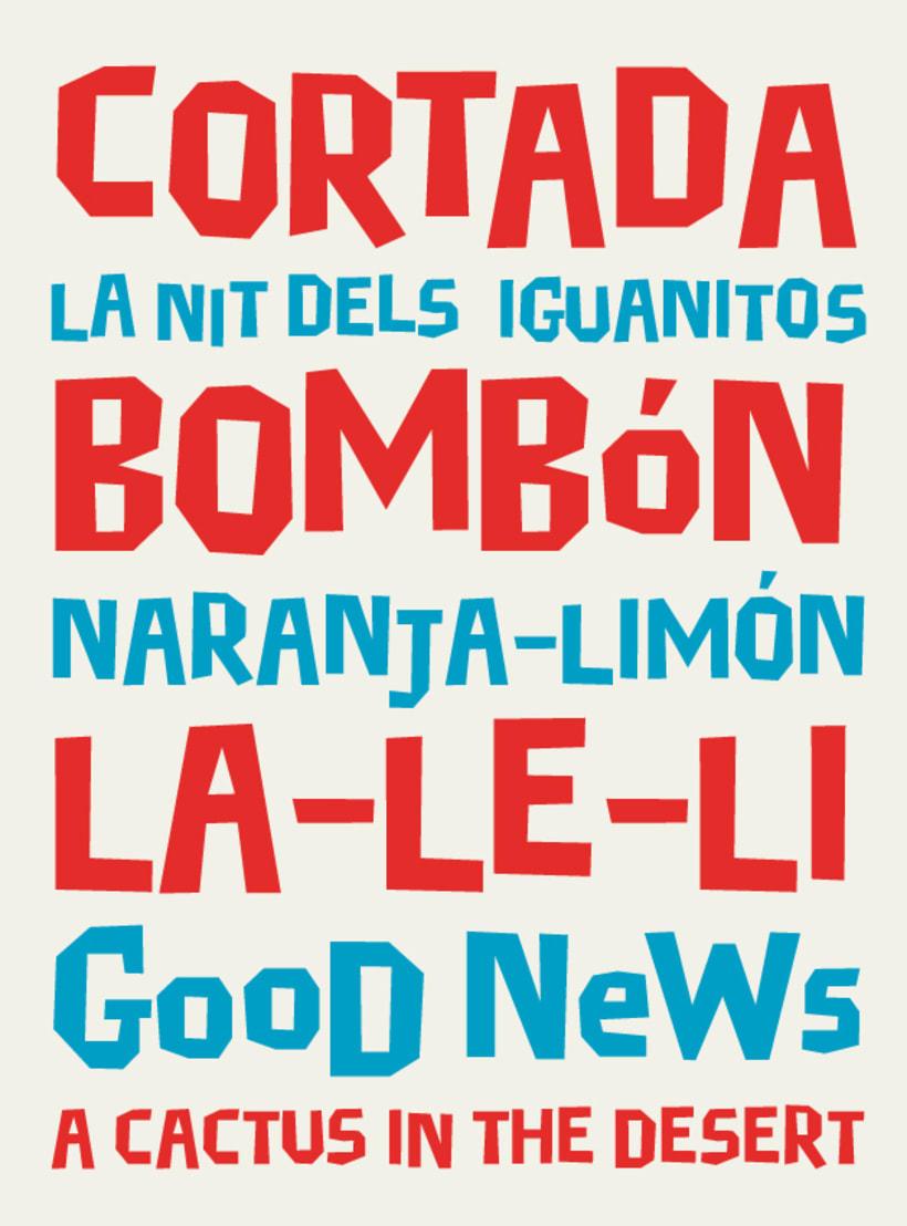 Cortada Dos, una tipografía para titulares divertidos. 2