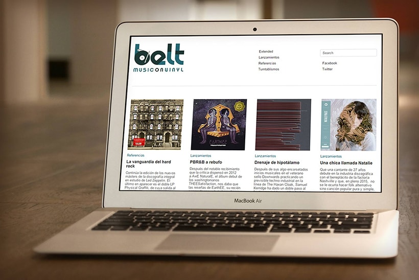 Branding beltmusiconvinyl.com 2